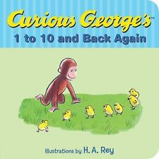 NEW, 2DAY SHIP, Curious George's 1 to 10 and Back Again BOARD BOOK