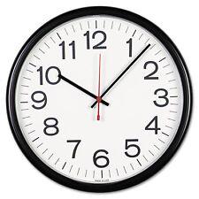 """Universal Indoor/Outdoor School Office Analog Industrial 13.5"""" Black/White Clock"""