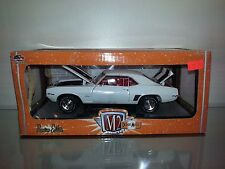 1/24 M2 DETROIT MUSCLE 1969 CHEVROLET CAMARO Z/28 WHITE WITH BLACK STRIPES