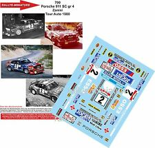 Decals 1/18 réf 700 Porsche 911 Sc Gr 4 Zanini Tour Auto 1980