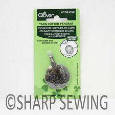 CLOVER YARN CUTTER PENDANT - ANTIQUE SILVER #3106
