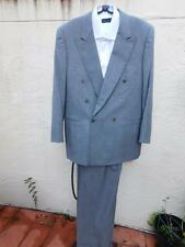 CANALI MILANO  CLASSIC CASHMERE WOOL DOUBLE BREASTED 6 BUTTON GRAY SUIT  50/40R