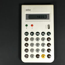 RARE White Vintage Braun AG 4835 Electronic Calculator with Case made in Japan