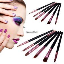 6 Pcs Trucco Cosmetici Pennelli Make Up Brush Set con Rosa Borsa Nuovo DL0