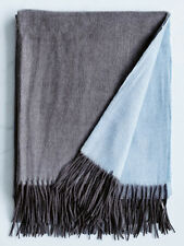 Donna Hay Wool and Cashmere CHARCOAL BLUE Throw Blanket Mint in Gift Box