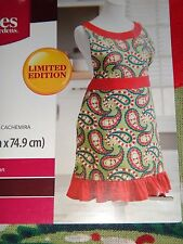 BETTER HOMES & GARDENS~Women's Paisley Kitchen Frilly Apron~Side Pockets~Cotton