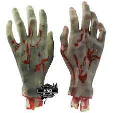 Scary Black Bloody Fake Rubber Severed Body Part Hand Life Size Halloween Props