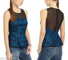 NEW Sz 0 Anthropologie Witching Hour Peplum Blouse Top By Sachin & Babi $188