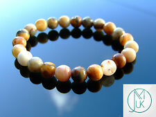 Crazy Lace Agate Natural Gemstone Bracelet Elasticated 7-8'' Healing Reiki