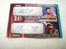 WWE Wrestling Autograph Card Bobby Roode & James Storm TEN2-1 32/100