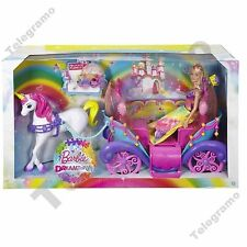 Barbie Dreamtopia Rainbow Cove Princess Doll Horse & Carriage - DPY38 - NEW