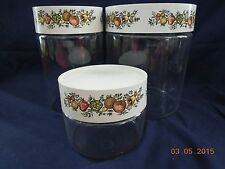 Set of 3 Pyrex Kitchen Cannisters with Removable Seals