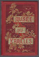 """Rare """"Musée des familles"""" tome 50, 1883, cartonnage Paul Souze. Très bel état!"""