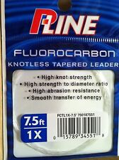 100% Fluorocarbon 7.5' 1X Tapered Leader P-Line  Knotless Fly Line Taper  -Japan