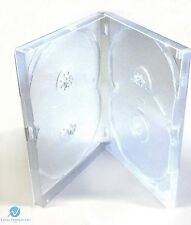 25 x 4 Way Clear DVD Multibox 15mm [4 Discs] Empty New Replacement Amaray Case