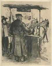 PFERDE STRASSENBAHN - 1900 - Ed. VALLET - OriginalLithographie TRAMWAY a CHEVAUX