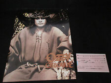 Ozzy Osbourne 1989 Japan Tour Book with Ticket Stub Black Sabbath Zakk Wylde