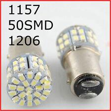 White 1157 BAY15D 50SMD 1206 6000K 12V LED Light Car Tail Stop Brake Bulb New F