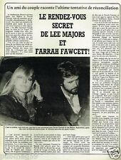 Coupure de Presse Clipping 1982 (1 page) Lee Majors et Farrah Fawcett