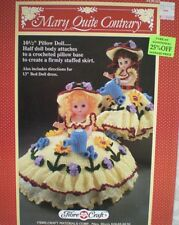 "Fibre Craft Mary Quite Contrary 13"" Doll 10 1/2"" Pillow Bed Crochet Pattern"