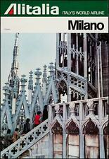 ALITALIA MILANO DUOMO Vintage TRAVEL poster 1976 27x40 AIRLINES (Not a repro)