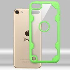 Transparent Clear/Green Hybrid Protector Cover Case for iPod Touch 5th 6th