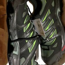 Salomon ESKAPE GTX Men's Hiking Shoes 11.5 Titanium/Black/Turf Green Waterproof