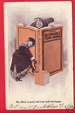 CYCLE & AUTOMOBILE TRADE JOURNAL BIG BOOK SHOW IS GREAT EARLY UND BACK  POSTCARD