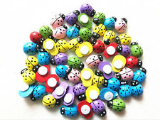 50Pcs mixed ladybug wooden button children and children cut 15 mm