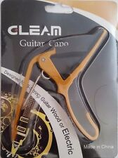 Acoustic Electric Guitar Ukulele Capo Yellow Gold Color