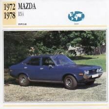1972-1978 MAZDA RX4 Classic Car Photograph / Information Maxi Card