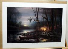 Terry Redlin Evening Glow- Signed and Numbered Camping Print with Cert Mint