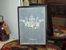 Paris wall decor 8 x 10 crown sign chalkboard look Shabby French chic vintage