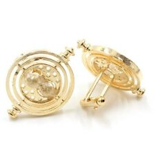 Cufflinks Vintage Hourglass Round Dial Gold Colour Cuff Links Hour Glass