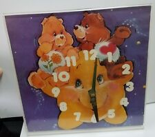 * VINTAGE WORKING * 1980's Friend & Tenderheart CARE BEAR Stand Alone CLOCK *