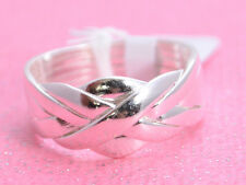 6 LAYER HIGH POLISH PUZZLE Ring All Genuine Sterling Silver.925 Stamped Size 8