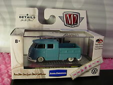 M2 Machines 1959 VW DOUBLE CAB TRUCK USA MODEL∞Blue Volkswagen∞Walmart LE 7380