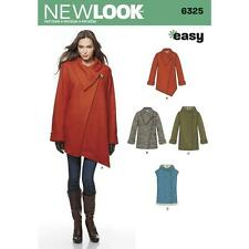 NEW LOOK Sewing Pattern Womens Miss  Plus EASY Jacket+ Coat+Vest Sz 6-24~6325