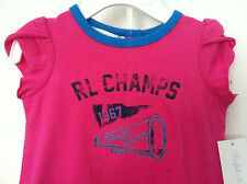 Ralph Lauren Infant Girls Dress with Bloomers Hot Pink Double Ruffle 6M NWT