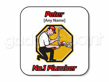 Personalised Gift Plumber Coaster Handyman Birthday Christmas Men Work Present