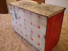 Primitive Bread Box Metal Antique Vintage