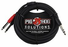 "Pig Hog Solutions - 10ft TRS(M)-Dual 1/4"" Insert Cable"
