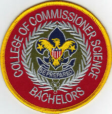 """College Of Commissioner Science Bachelors 4"""" Jacket Patch, """"BSA 2010"""" Back"""