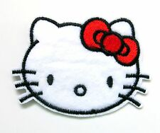 Hello Kitty On Patch- Kids Cartoon Character Embroidered Applique Sew Crafts