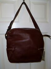 GIANNI CONTI BROWN LEATHER HANDBAG