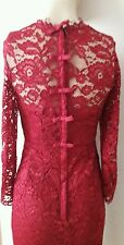 COAST * CASSIA * MULBERRY LONG SLEEVE LACE DRESS SIZE 16 NEW