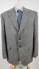 Men's Croft & Barrow Lt Brown Tweed Silk 2 Button Sport Coat Suit Jacket 44R