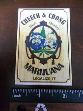 "2.5"" Funny Cheech and Chong Rolling Papers STICKER. Marijuana. For bong or pipe."