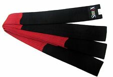 Karate Belt Black/Red BLOCK BELT size- 320cm, BUDO MARTIAL ARTS, Hapkido