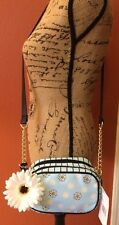 Luv Betsey By Betsey Johnson Women's Blue Dot & Daisy Cross Body Bag-NWT-Sweet!!